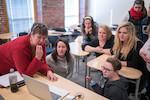 Professor Laurie Shaffer ASL class