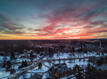 Durham Sunset Winter Aerial